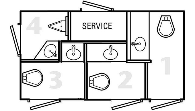 4 Door Luxury Restroom Trailers Luxury Restroom Trailer