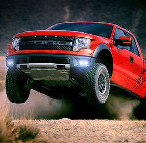 red ford raptor