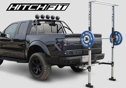 mobile fitness equipment hitch fit