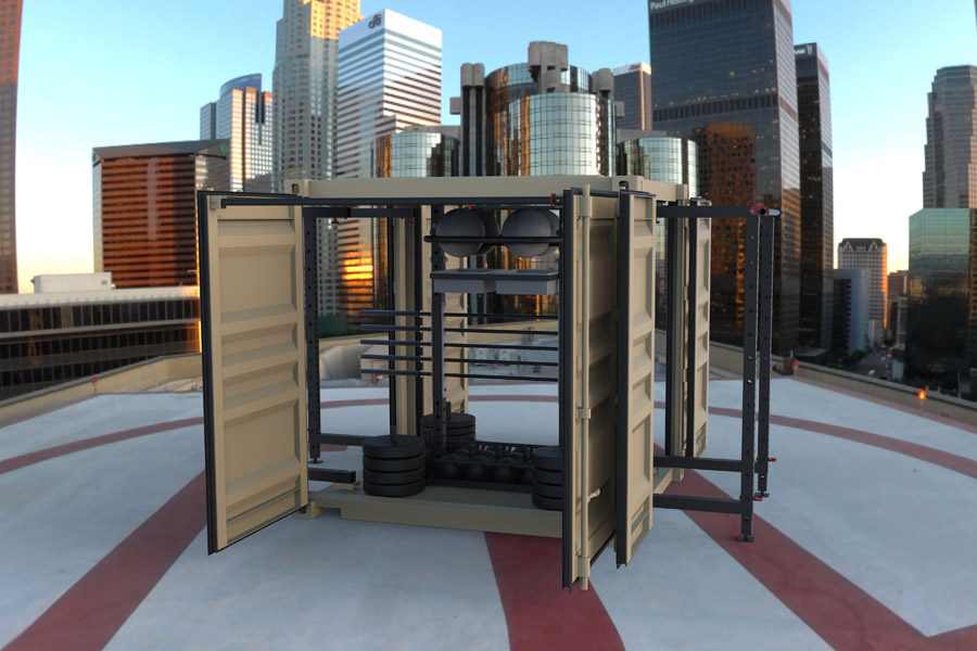 Outdoor home gym crossfit ideas