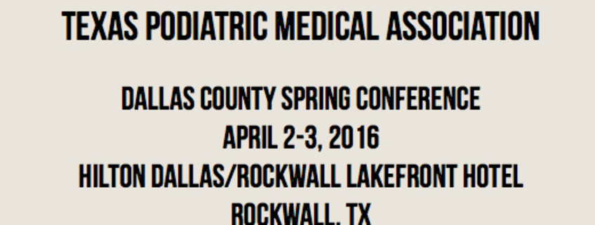 Dr.Radhakrishnan Speaks At Texas Podiatric Medical Association Conference