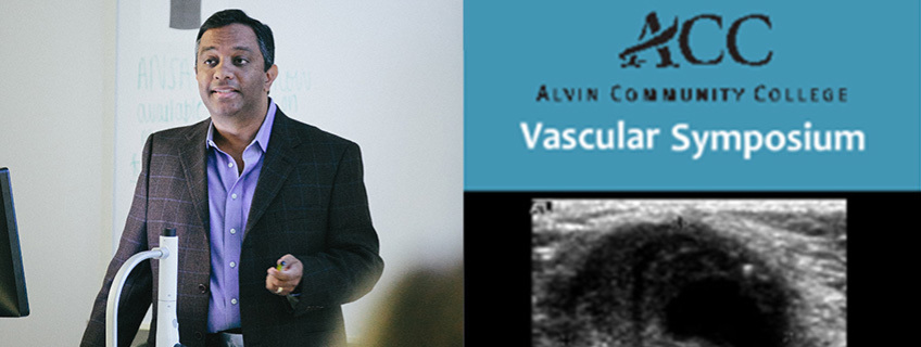 Dr. Radhakrishnan Lectures at 1st Annual Vascular Symposium at Alvin Community College